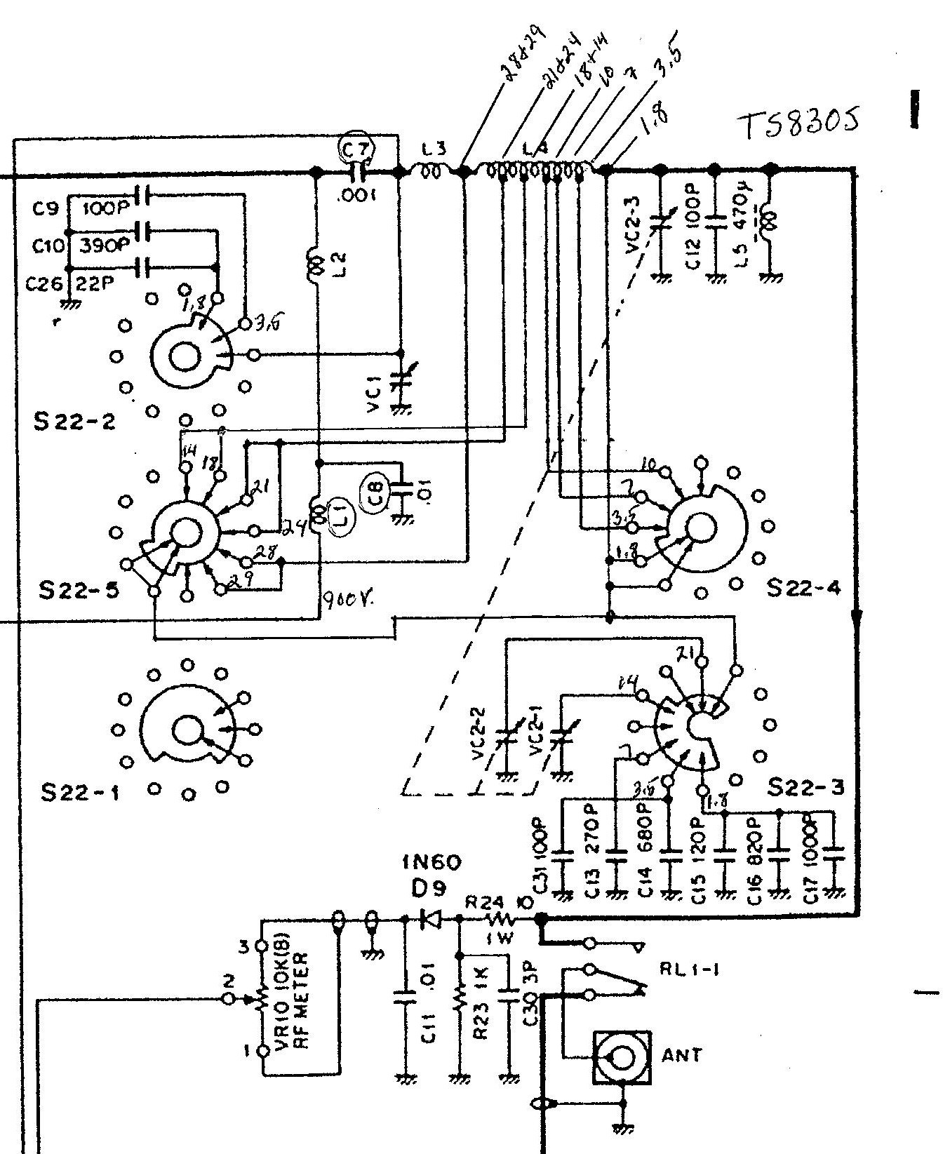 kenwood ts 520 schematic diagram